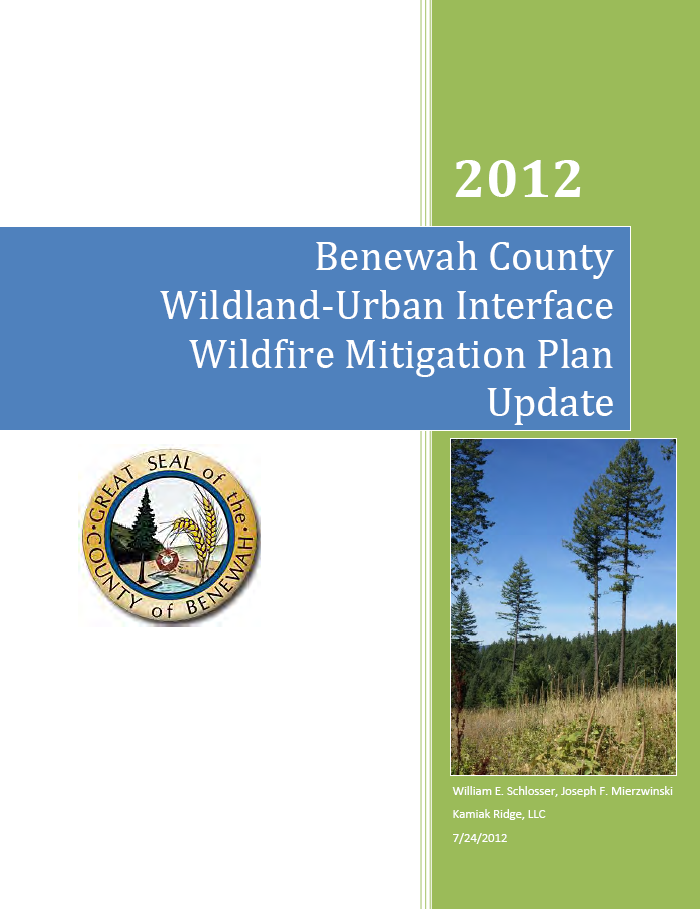 Benewah County Wildland-Urban Interface Wildfire Mitigation Plan 2012