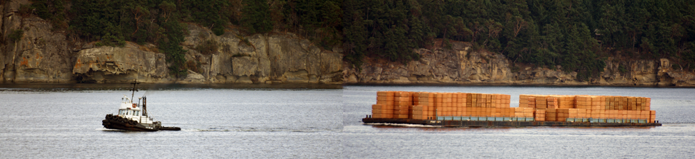 lumber tugboat delivery